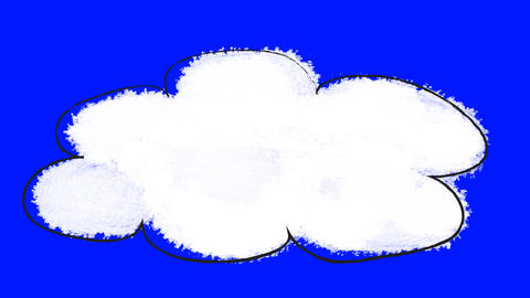 Animated Cartoon Cloud on a Green Screen Background Footage