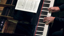 4K Pianist Plays Open Piano at Classical Music Concert Footage