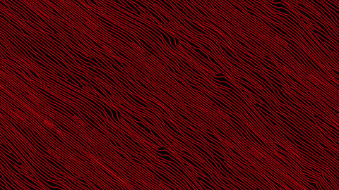 Hand Sketched Cartoon Red Lines Background in Stop Motion Live Action