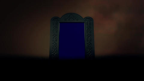 Spooky and Scary Framed Mirror in a Middle of a Storm. Mirror Key-out Perfectly Footage