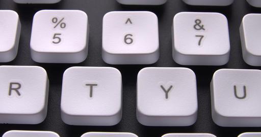 1080p English PC Keyboard Keys Macro Stock Video Footage