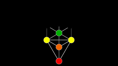 Kabbalah Color Spectrum of the Tree of Life on a Flower of Life Background Footage