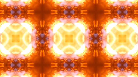Beautiful and Unique Psychedelic Kaleidoscope of Fire and Flames Footage
