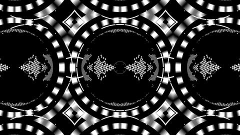 Beautiful and Unique Psychedelic Kaleidoscope of Digital Elements Footage