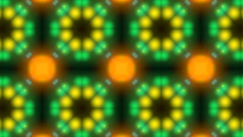 Beautiful and Unique Psychedelic Kaleidoscope of Flickering Colorful Lights Footage