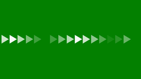 White Arrow Indicator Animation on a Green Screen Footage