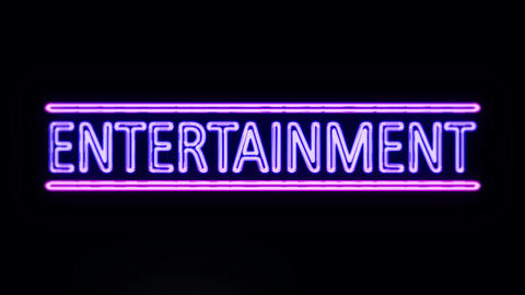 Entertainment in Neon Lights Lightning Up Footage