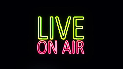 Live ON AIR in Neon Lights Lightning Up Footage