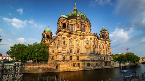 BERLIN, GERMANY - MAY,2019: Timelapse view of the historic building Berliner Dom Live Action