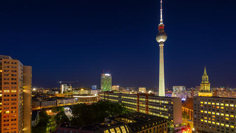 BERLIN, GERMANY - MAY,2019: Timelapse view of Central Berlin and famous Live Action