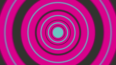 Seamless Loop Animation With Blue And Magenta Circles Animation
