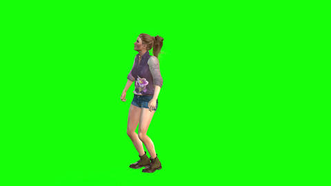 506 4k 3d animated nice girl jumping Animation