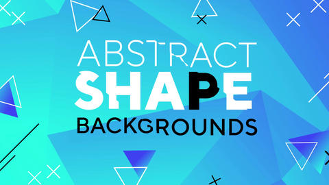 Abstract Shape Backgrounds After Effects Template