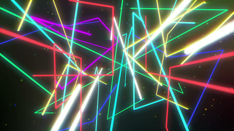 Colorful laser lights dancing party background looped Animation