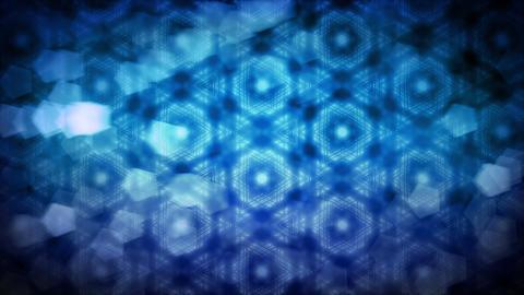 Winter Cold Blue Kaleidoscope Background Animation