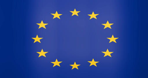 Waving Flag of Euro Zone Looping Background Live Action