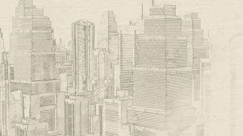 4K City Engineer Concept Art Sketch Design Animation