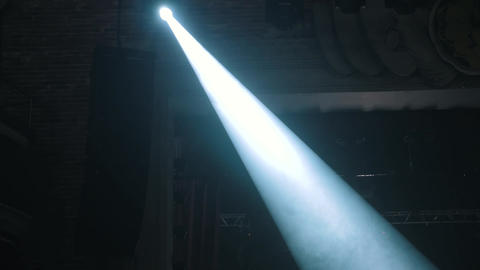 Stage light is directed to the stage Live Action