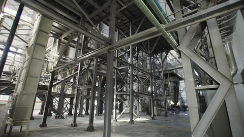Industrial interior, production of ceramic tiles, modern factory interior Live Action
