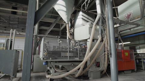 Factory for the Production of Ceramic Tiles. The Process of Making Ceramic Tiles Live Action