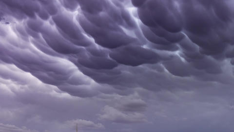 Mammatus clouds dramatic sky background Live Action