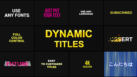 Dynamic Titles Pack