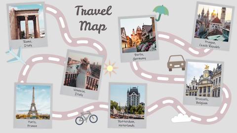Travel book slideshow Premiere Pro Template