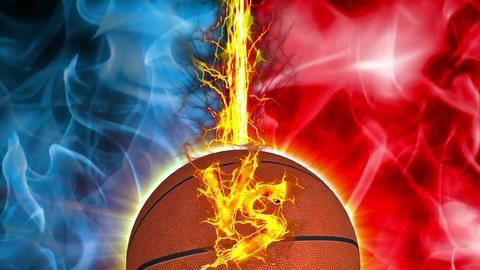 VS Basket ball versus fight UI fire loop animation Animation