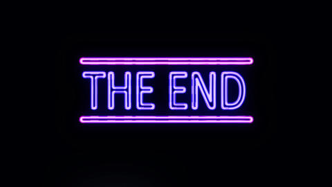 THE END in Neon Lights Turning on Footage