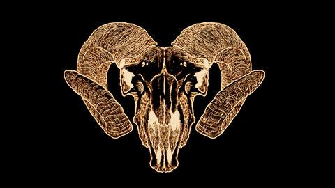 Diabolic Goat Skull Footage
