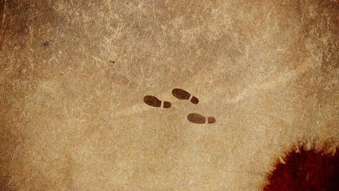 Murderer Footsteps Walking Away From Crime Scene Live Action
