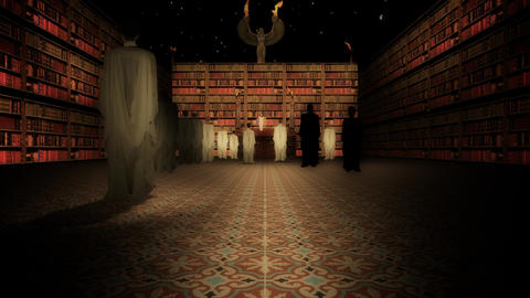 The Interior of the Great Library of Alexandria in the Lecture Hall Footage