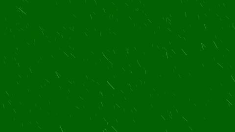 Windy Rain on a Green Screen Background Animation Live Action