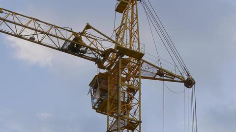 4K Ungraded: Tower Crane / Crane Building / Construction Site Footage