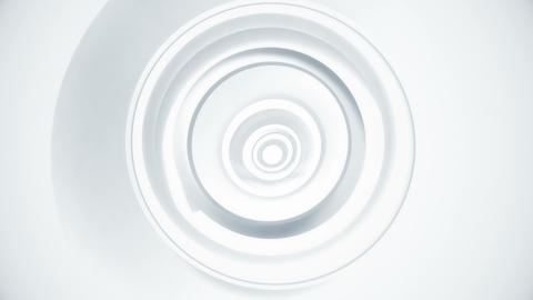 White Circles Minimal Motion Background Animation