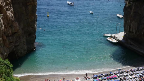 Marina di Praia in world famous Amalfi coast. Unesco world heritage site Live Action