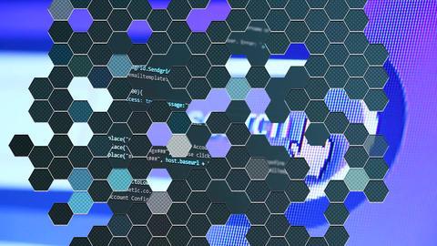 Hexagon Mosaic Transitions Apple Motionテンプレート