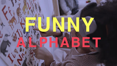 Funny Alphabet Plantilla de Apple Motion