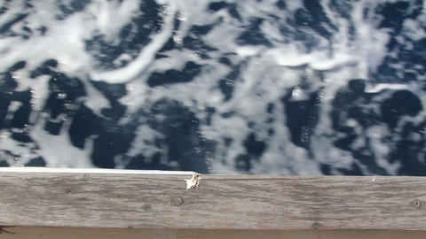 Blue Ocean Sea With Fast Yatch Boat Wake Foam Live Action