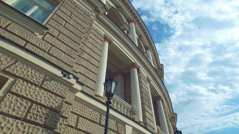 Ukraine, Odessa National Academic Theater of Opera and Ballet Facade, Low Angle Live Action