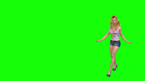 515 4k 3d animated beautiful girl walks to meet her boyfriend Animation