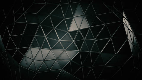 Black Polygonal Triangles Background Animation