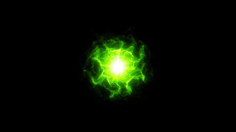 Abstract Green Shockwave Smoke Animation. Pulsating energy field. Energy Fx Animation
