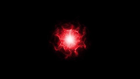 Abstract Red Shockwave Smoke Animation. Pulsating energy field. Energy Fx Animation