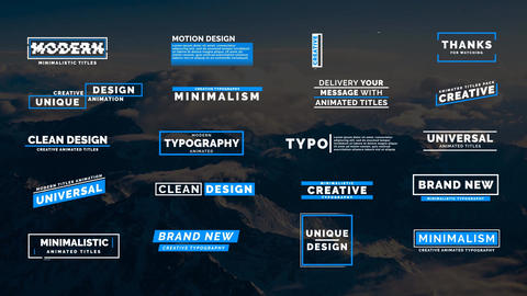 20 Animated Titles VII Motion Graphics Template