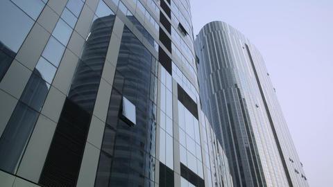 Contemporary architecture office building cityscape Live Action