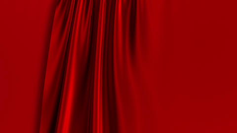 Red Curtain Opening. Green Screen GIF