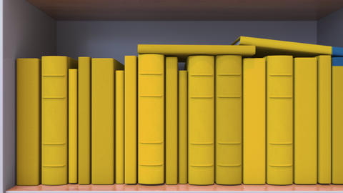 Many spines of the books form the Swedish flag. Education or science in Sweden Live Action
