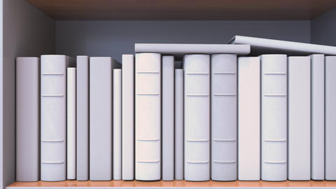 Spines of books compose flag of France. French Literature, culture or science Live Action
