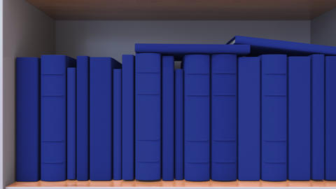 Spines of books compose flag of Armenia. Armenian Literature, culture or science Live Action